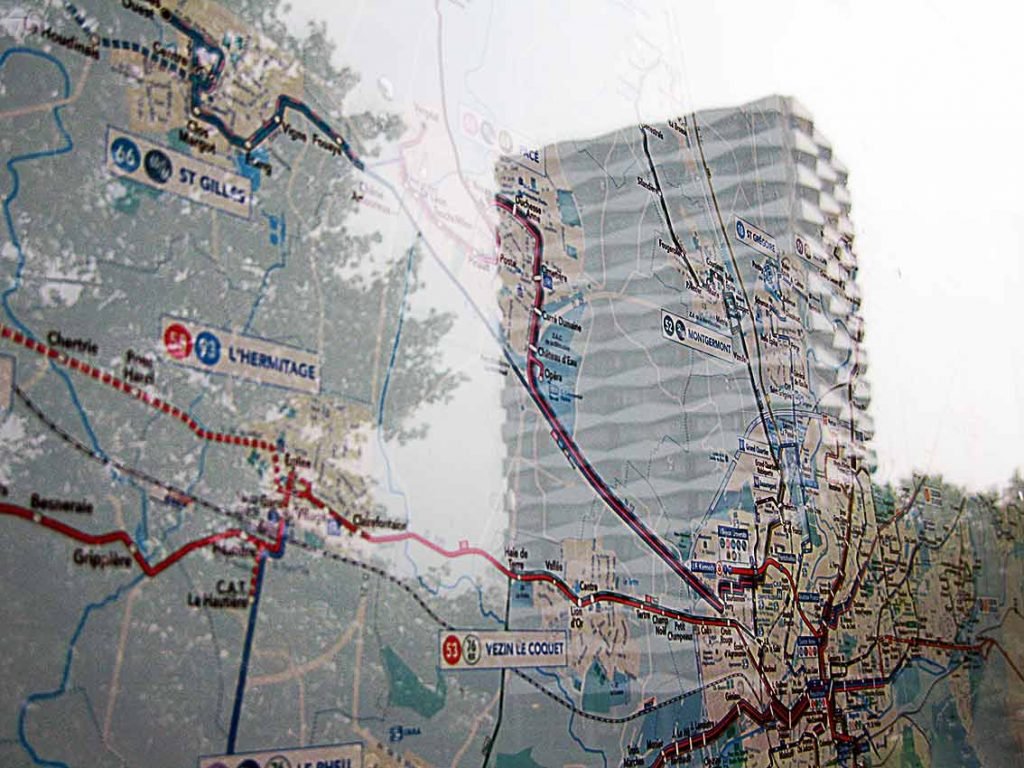 plan Rennes au Blosne